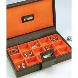 Caseta 15 butoni, din piele - Dulwich Designs
