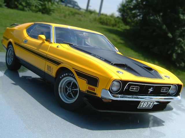 1971 Ford Mustang Mach 1 351 Fastback. Drool ! Probably has the 351C, Drag Pak, and a 4-speed. :-) my dads first car. Cost about 2 grand.