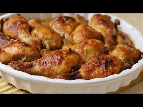 Kurczak pieczony miodzio sprawdzony przepis - YouTube