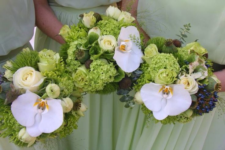 Green Wedding Bouquets Irish Wedding Pinterest
