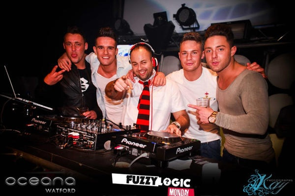 The Geordie Shore boys with our very own DJ Terry Marks!