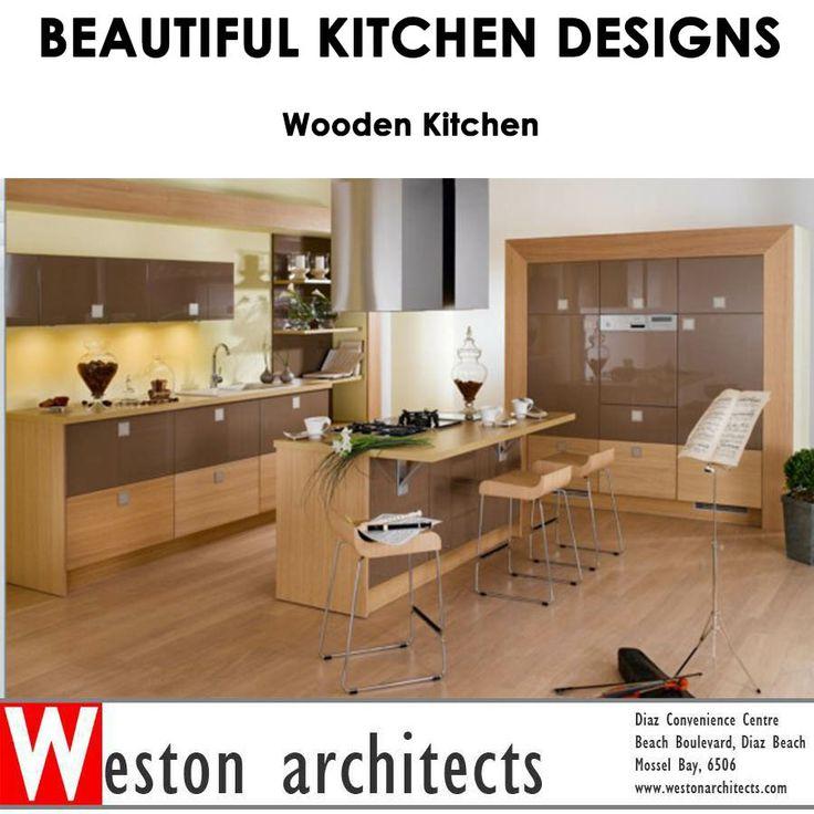 BEAUTIFUL KITCHEN DESIGNS ! Wooden kitchen design. Speak to Weston Architects about your dream home: 082 413 3250  Source: Home designing  #architect #kitchens #lifestyle