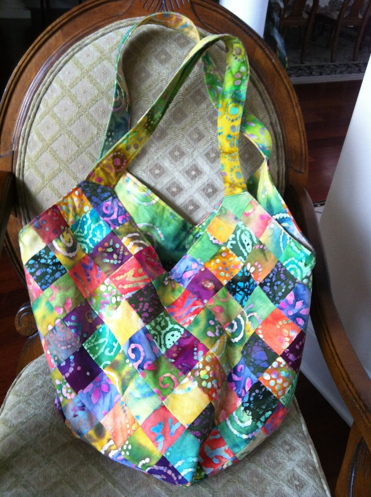"""I made this Mondo Bag from 15, 2 1/2"""" strips.  It holds everything!  I love it!!"""