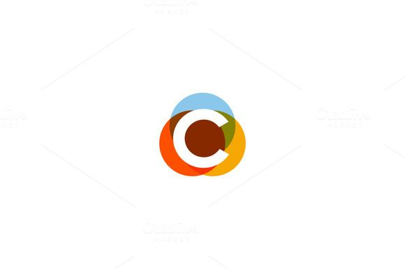 Color letter c logo by @Graphicsauthor