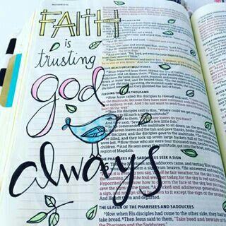 Matthew - Faith is trusting God always - Bible Journaling