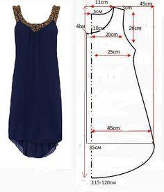 Base model pour la robe evasee: elargir ouverture de la jupe