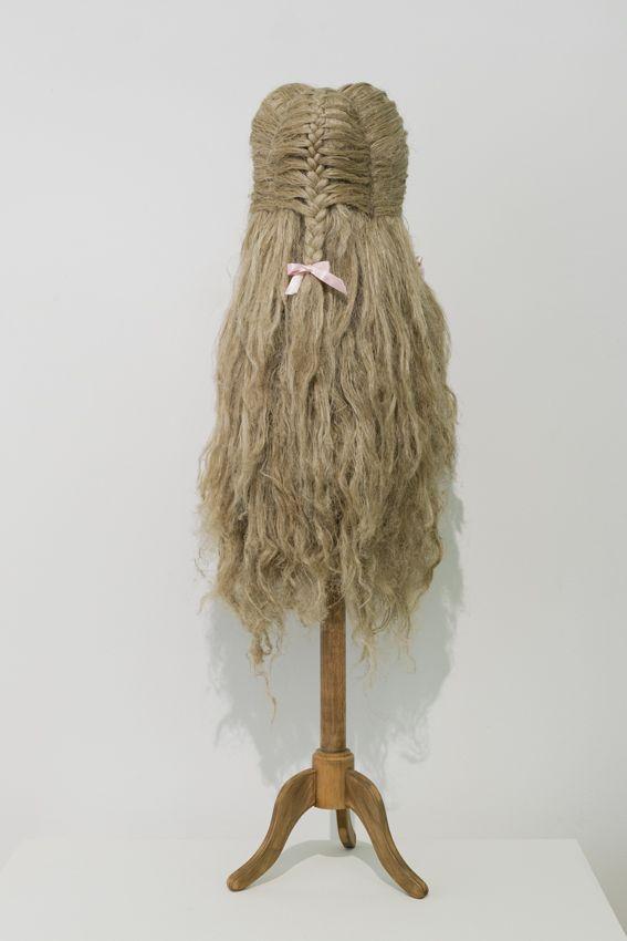 Elodie ANTOINE - Princesse aux rubans, 2014, cotton and hemp, 133x40x40cm, unique