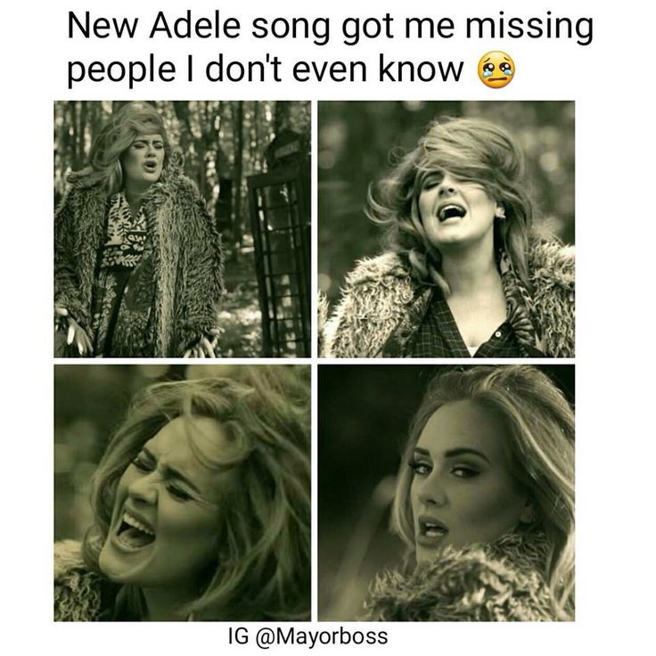 "Adele memes are the best!!  ""hello"""