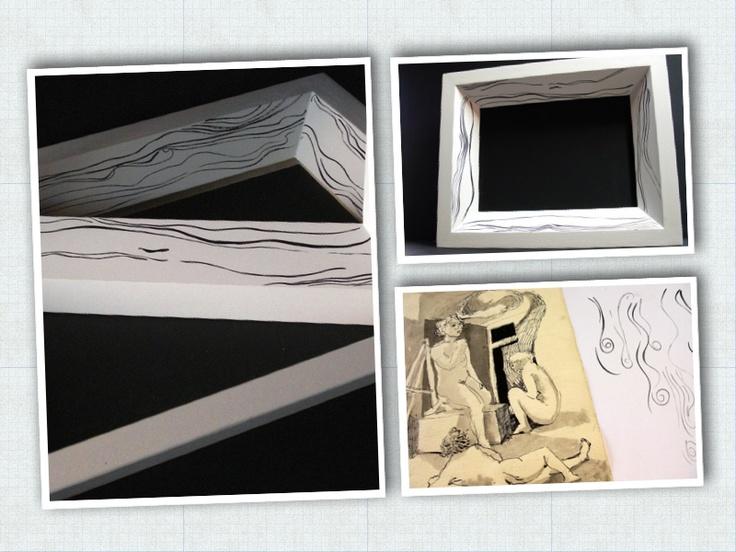Cornice 'Black and white'. Linea Elemaxframes
