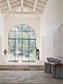 .: Big Window, Lights, Interiors Design, Beams, Ceilings, Steel Window, Glasses Doors, Fashion Handbags, White Wall
