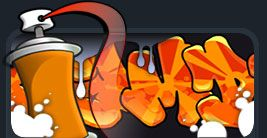 """Welcome to The Graffiti Creator The Graffiti Creator© allow you to design your own name or logotype in graffiti-style.  You have several different font styles to choose from and the program has an array of cool tools  to further enhance your logotype to look like the real thing. Go ahead and explore the possibilities!"" Graffiti Creator"
