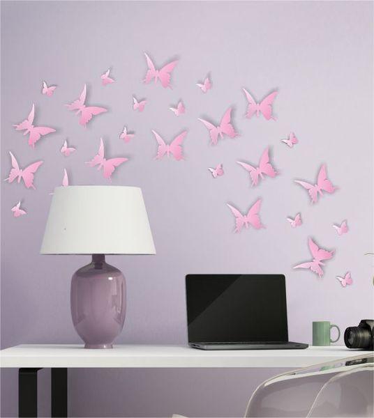 Simple D Schmetterlinge Rosa