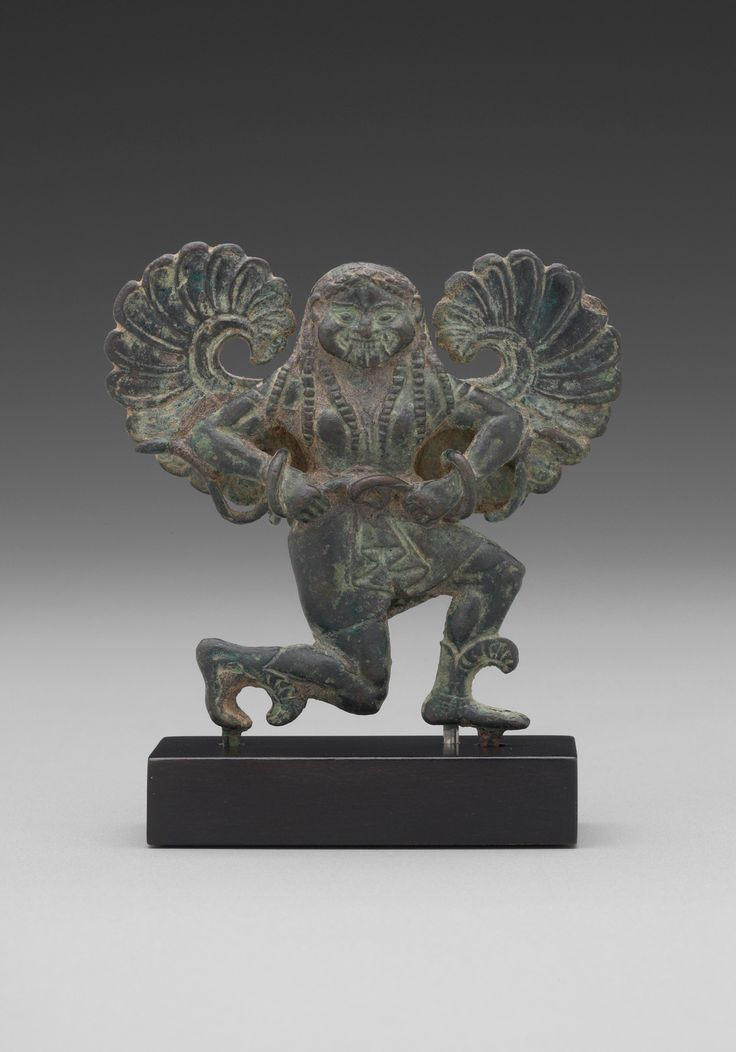 Running Gorgon ca. 540 B.C.  Bronze.Culture:  Greek, Lakonian or South Italian Period:  Archaic - See more at: http://artgallery.yale.edu/collections/objects/running-gorgon#sthash.sWrNpb7n.dpuf