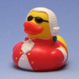 Badeente Mozart mit Sonnenbrille