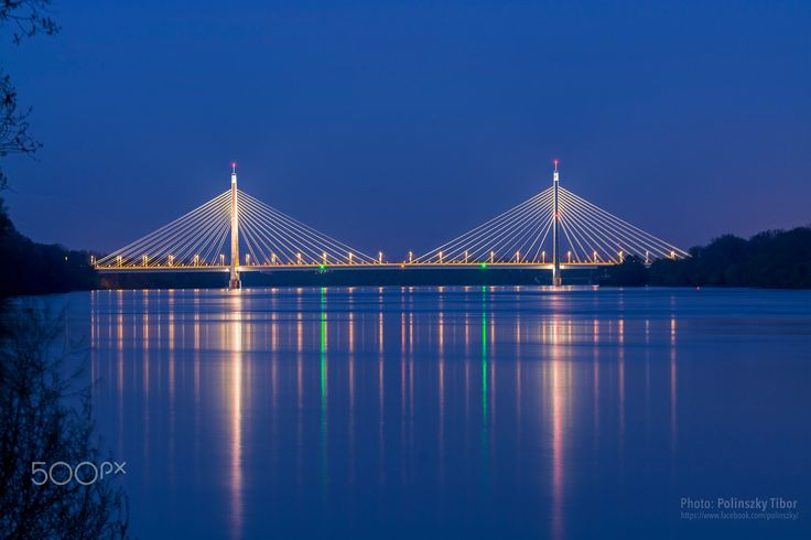 The Megyeri Bridge No.: 1 - The Megyeri Bridge, previously known as the Northern M0 Danube bridge, is a cable-stayed bridge that spans the River Danube between Buda and Pest, respectively the west and east sides of Budapest, the capital of Hungary. It is an important section of the M0 ringroad around Budapest.