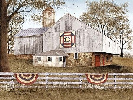 American Star Quilt Block Barn by artist Billy Jacobs