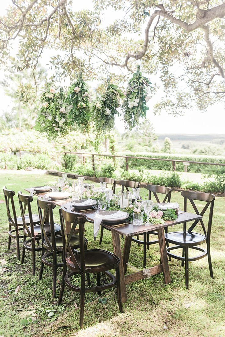 Romantic outdoor garden reception | Kaitlin Maree Photography | See more: http://theweddingplaybook.com/romantic-rustic-wedding-inspiration/