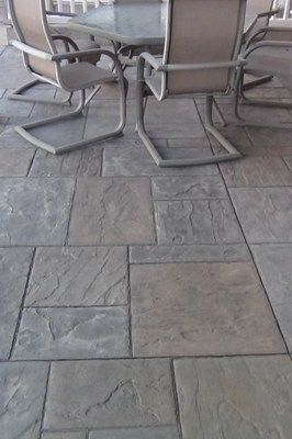 Stamped Concrete instead of a deck.
