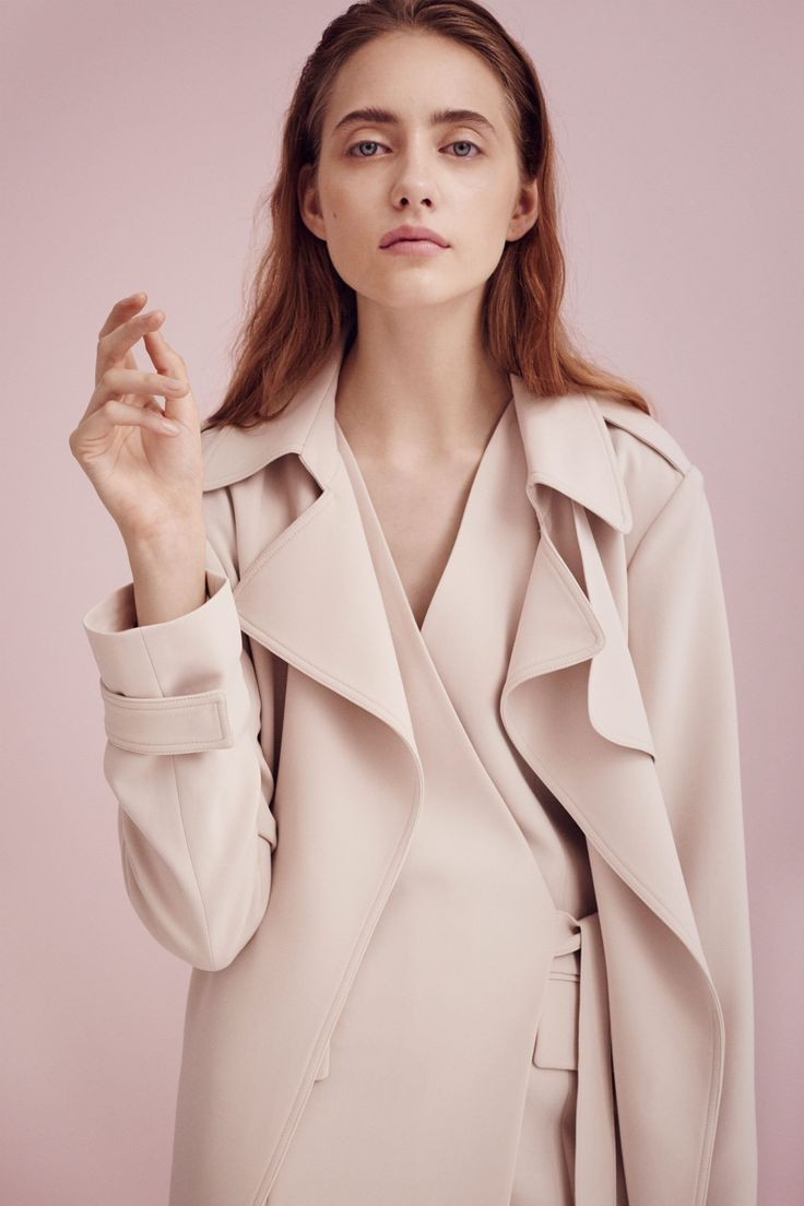 Replace your blazer with a soft trench. #refinery29 http://www.refinery29.com/2015/09/94208/work-wear-theory-spring-16#slide-5