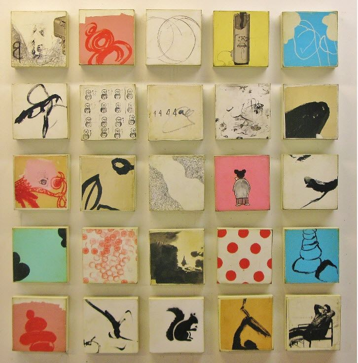 Michael Cutlip. I love his grids of tiny images. They're like haiku...or, I guess, haiga...?