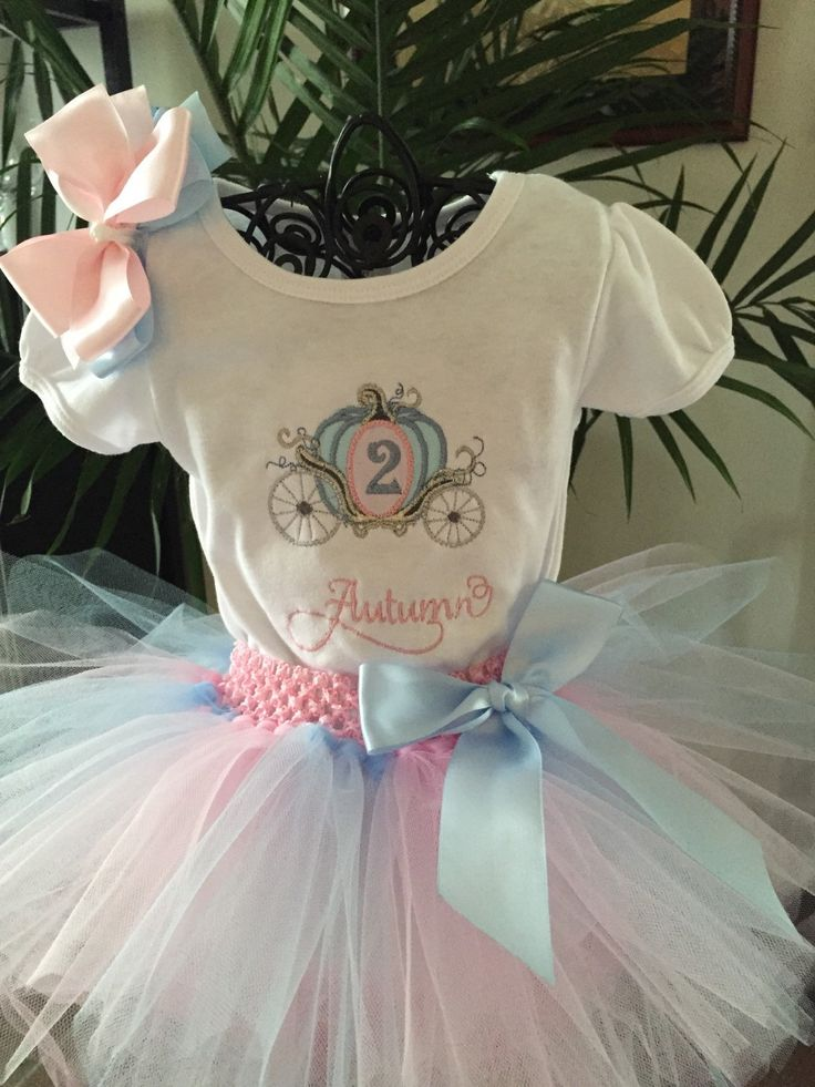 Personalized embroidered Princess Carriage Coach shirt and pink and blue Tutu Outfit girls Cinderella Birthday Party Disney Vacation by TutuPlace on Etsy https://www.etsy.com/listing/227798546/personalized-embroidered-princess