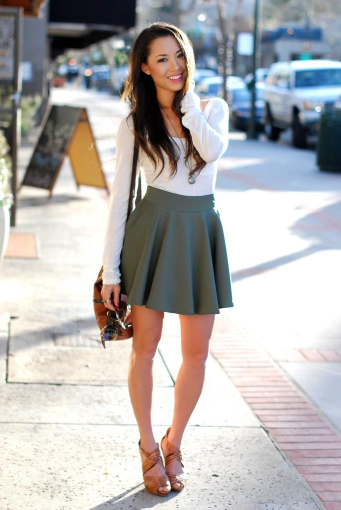 87aadda040b All about 26 Ways To Style A Skater Skirt 2019 Fashiongumcom ...