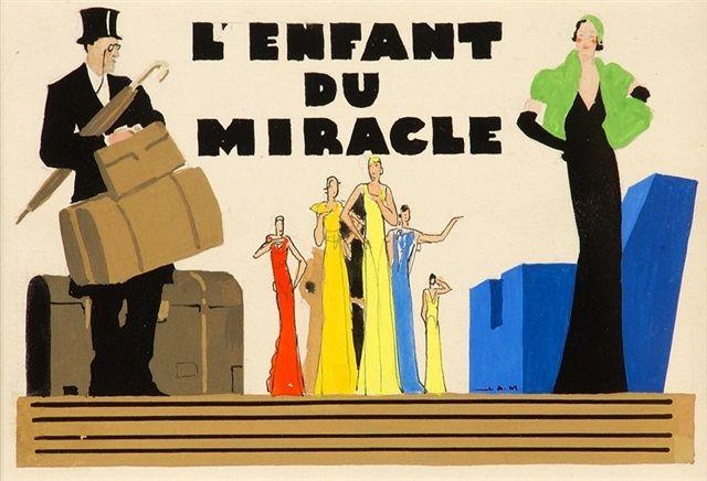 Jean A. Mercier (français, né en 1899) Titre :     L'Enfant du miracle, Henri Diamant-Berger , 1932