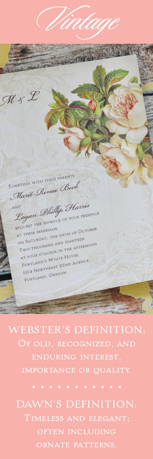 wedding invitations from michaels crafts%0A Floral Wedding Trend  Vintage  peony  vintagewedding  floralwedding