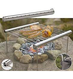 Grilliput allows you to barbecue anywhere and it's ideal for backpackers, campers and fishermen. With its compact self storing design, all the components fit snugly inside the Grilliput