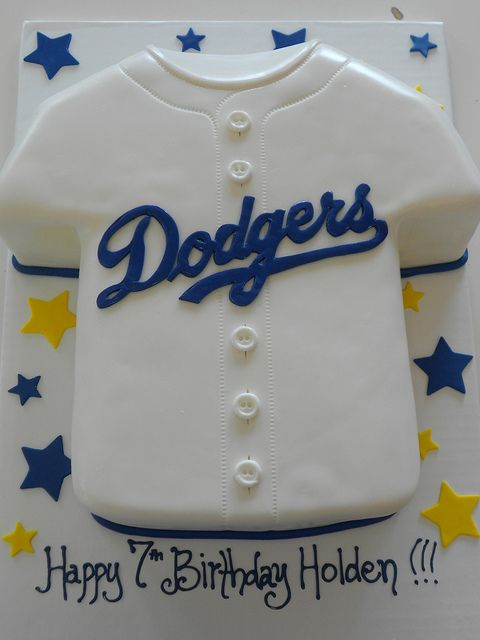 Dodgers Jersey Cake