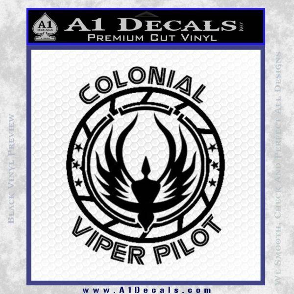 Colonial viper pilot d1 decal sticker battlestar galactica