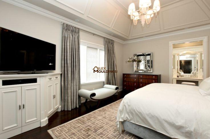 Crown mouldings master bedroom