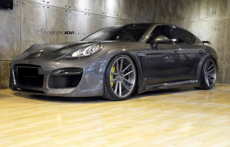 Panamera Turbo repainted to Acht Grau and installed Techart Grand GT aerokit no 28 with techart's exhaust and adv1 22' by HERO Motor