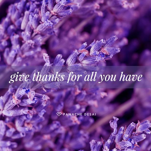 There is so much to be grateful for, and there's no better time to tap into that space of gratitude than now.