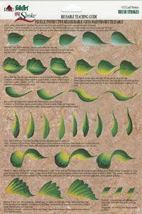 one stroke painting | One Stroke Worksheet Leaf Strokes: