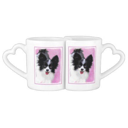 #Papillon (White and Black) Coffee Mug Set - #drinkware #cool #special