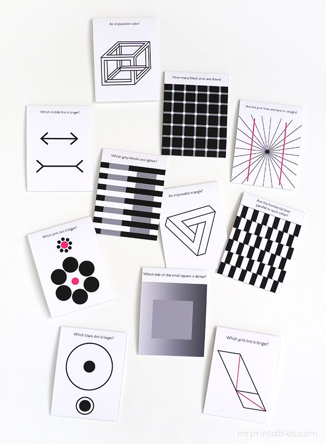 Optical Illusion Lunch Box Notes - Mr Printables
