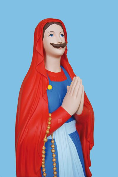 In Praise of Pop Culture    Re-Imagined Religious Virgin Mary Statuettes.
