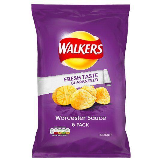 Walkers Worcester Sauce 6X25g - Groceries - Tesco Groceries