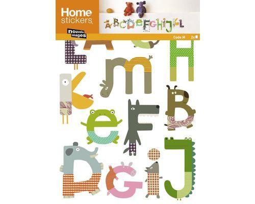 Cool Wandtattoo Sticker Tieralphabet x cm bei HORNBACH kaufen