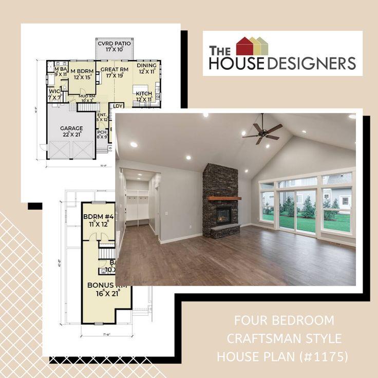 Comfortable 4 Bedroom Craftsman Style House Plan 1175 In 2020 Craftsman Style House Plans House Plans Craftsman Farmhouse