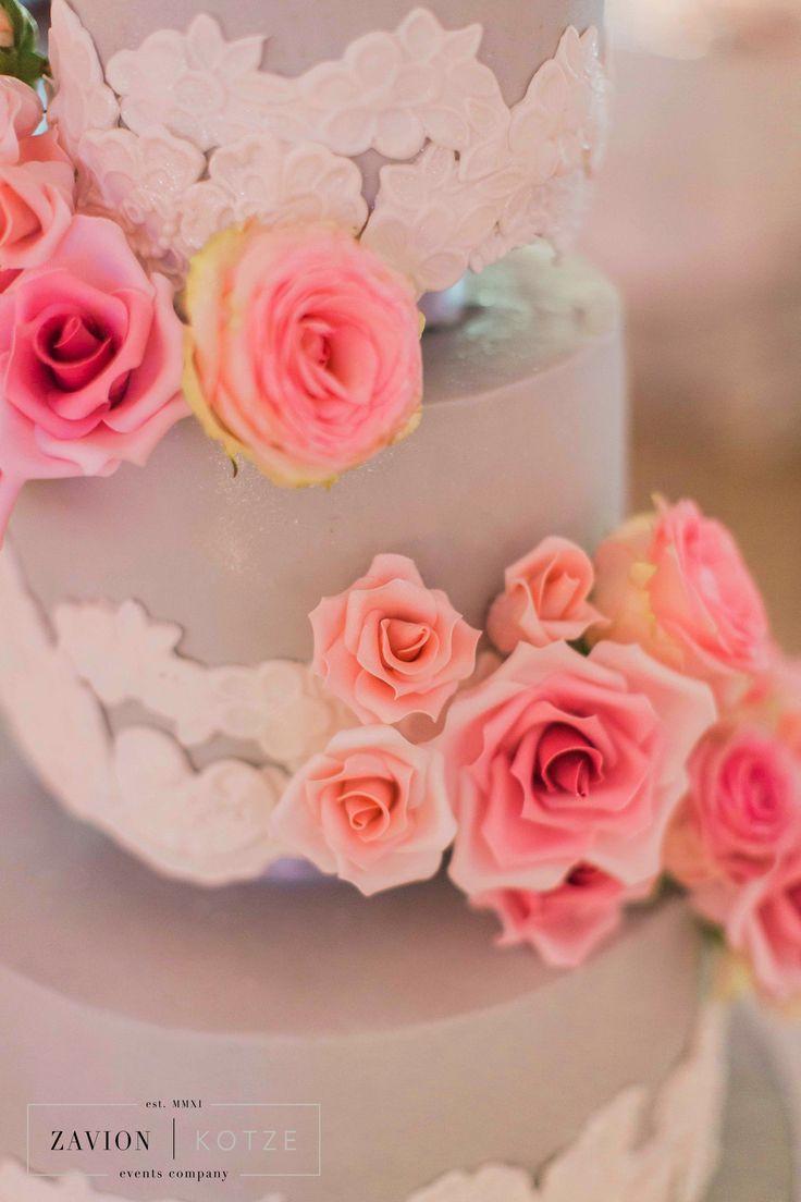 Wedding cake, pink and white wedding cake, royal wedding cake. Cake by Kelly Jaynes