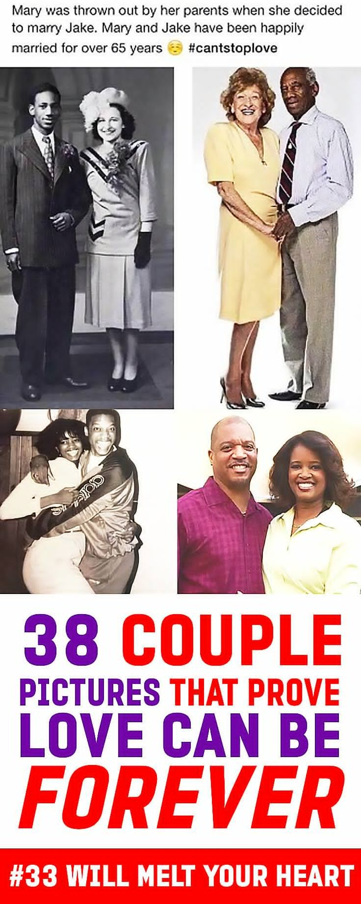 Love is in the air and love is forever for these sweet couples. Look at their photos from then and now and be filled with love.