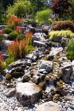 26 best ideas about riverbed garden on pinterest gardens for Landscaping rocks vancouver wa