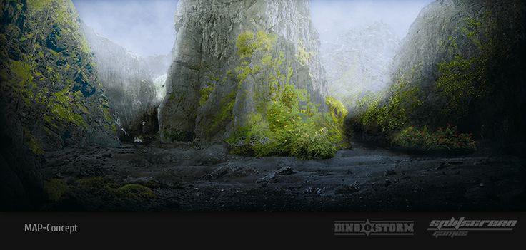 "Concept art new map ""Green Volcano"" 5  DinoStorm.com"