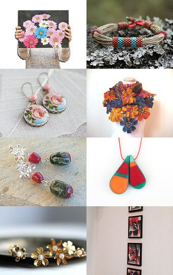 Flowers and colors by Elena on Etsy--Pinned with TreasuryPin.com