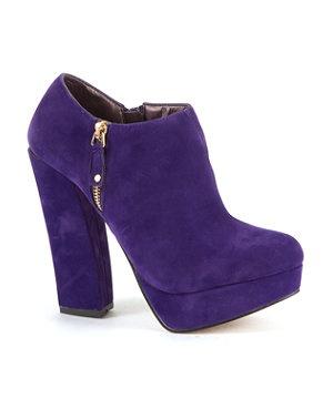 Purple booties!