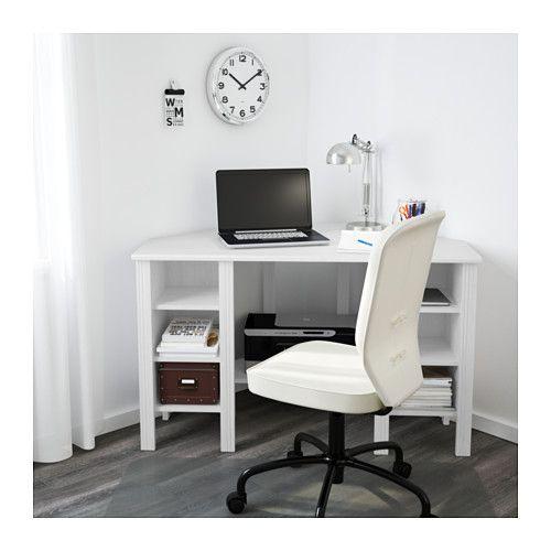 BRUSALI Scrivania angolare, bianco bianco 120x73 cm