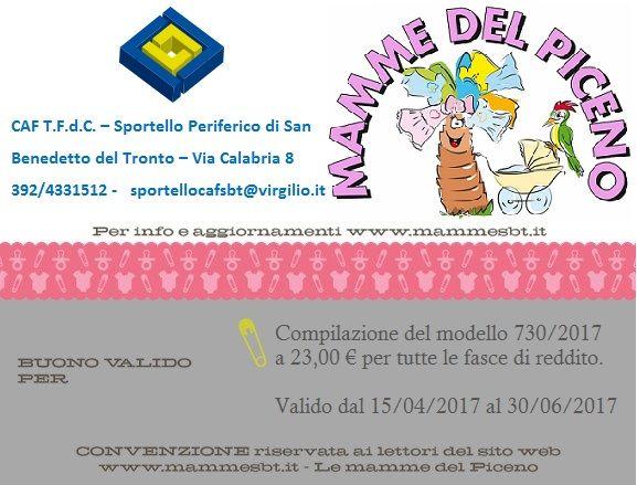 Nuova Convenzione – CAF T.F.d.C. – Sportello Periferico di San Benedetto del Tronto