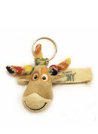 Sleutelhanger Oenny. Oenny is een knuffelbeest van Unicef en zo ziet hij eruit als sleutelhanger.